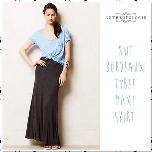 Anthropologie Bordeaux Tybee Maxi Skirt Grey NWT